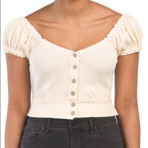 NEW // Free People beige crop top - NWT!